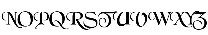 BlackChancery Font UPPERCASE