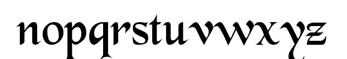 BlackChancery Font LOWERCASE
