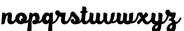 BlackFat Font LOWERCASE