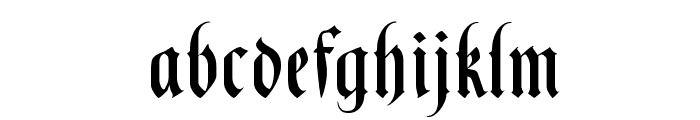 BlackKnightFLF Font LOWERCASE