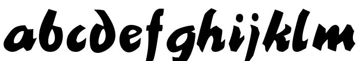 BlackNib Normal Font LOWERCASE