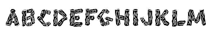 BlackSplinters Font UPPERCASE