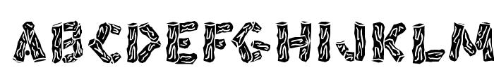 BlackSplinters Font LOWERCASE