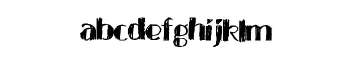 BlackTies Font LOWERCASE