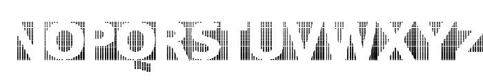 BlackWhiteGridsA Font UPPERCASE