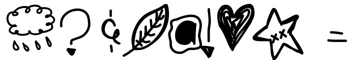 BlackberryBlues Font OTHER CHARS