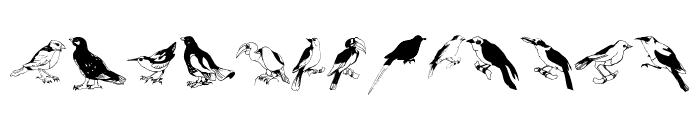 Blackbirds Font UPPERCASE
