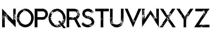 Blacked Out Regular Font UPPERCASE