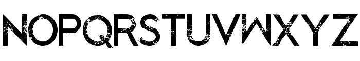BlackedOut-Regular Font UPPERCASE