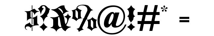 Blackletter ExtraBold Font OTHER CHARS