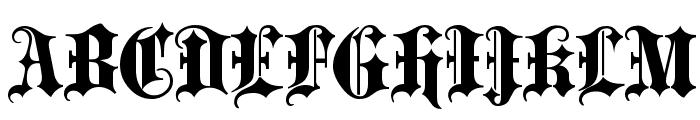 Blackletter ExtraBold Font UPPERCASE