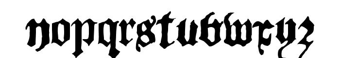 BlackletterHPLHS Font LOWERCASE
