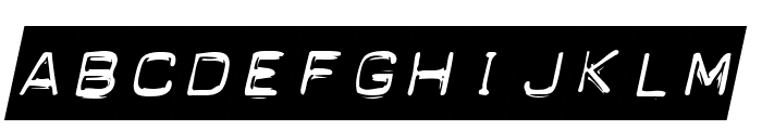 Blackout Italic Font LOWERCASE