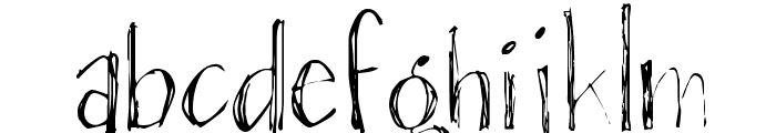 Blackout Sans Px Font LOWERCASE