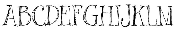 Blackout Serif Px Font UPPERCASE