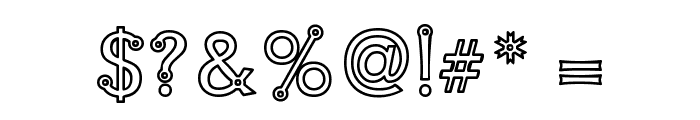 Blacksmith Delight Outlined Font OTHER CHARS