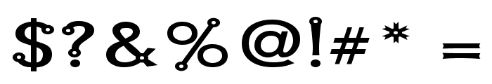 Blacksmith Delight SemiWide Font OTHER CHARS
