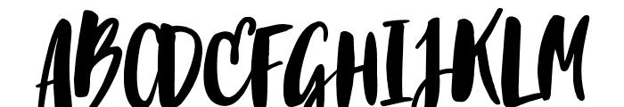 Blacktear Script Font UPPERCASE