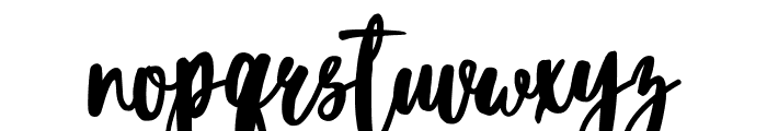 Blacktear Script Font LOWERCASE