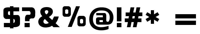 Blackthorns Demo Black Font OTHER CHARS