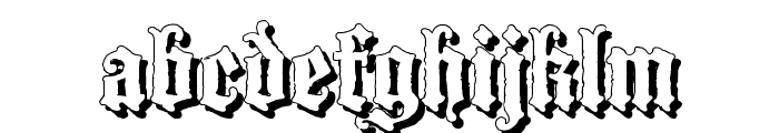 Blackwood Castle Shadow Font LOWERCASE