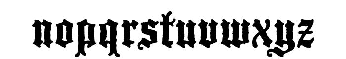 Blackwood Castle Font LOWERCASE