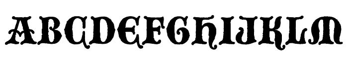 BlackwoodCastle Font UPPERCASE