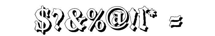 BlackwoodCastleShadow Font OTHER CHARS