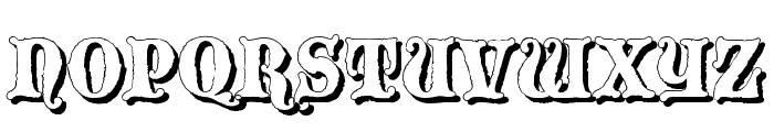 BlackwoodCastleShadow Font UPPERCASE