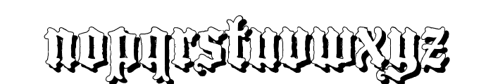 BlackwoodCastleShadow Font LOWERCASE