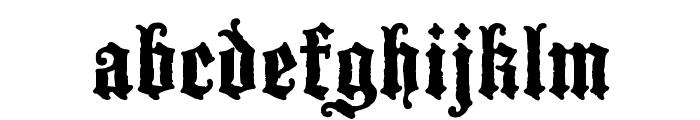 BlackwoodCastle Font LOWERCASE