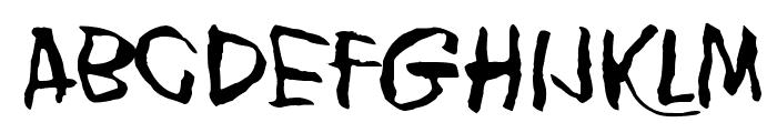 Blank Eye Font UPPERCASE