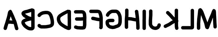 Blanket Reversed Font UPPERCASE
