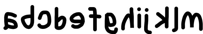 Blanket Reversed Font LOWERCASE