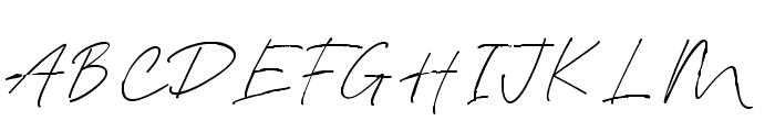 Blante Panama Script DEMO Regular Font UPPERCASE