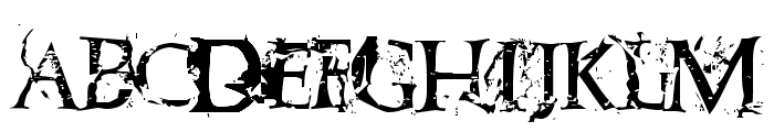 Blasphemy Font UPPERCASE