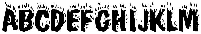 Blaze Font UPPERCASE