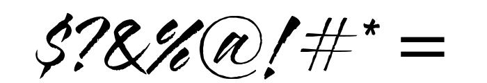 Blazing Italic Font OTHER CHARS