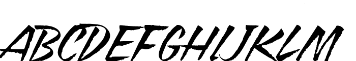 Blazing Italic Font UPPERCASE