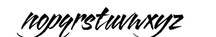 Blazing Italic Font LOWERCASE