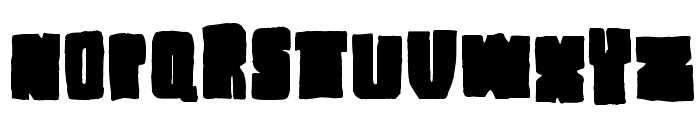 Blck Plain Font UPPERCASE