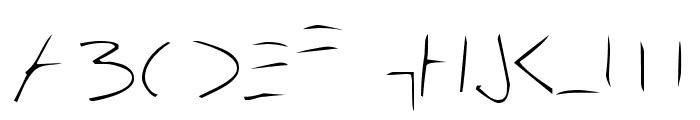 Bleak Future Hand Font UPPERCASE