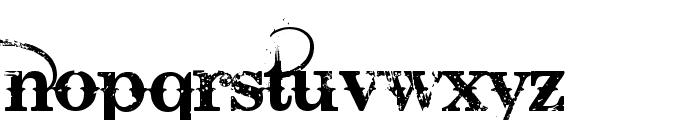 Bleeding Cowboys Font LOWERCASE