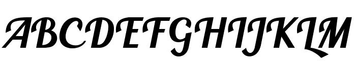 BlendaScript Font UPPERCASE