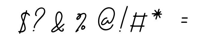 Blenheim Signature Font OTHER CHARS