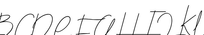 Blenheim Signature Font UPPERCASE