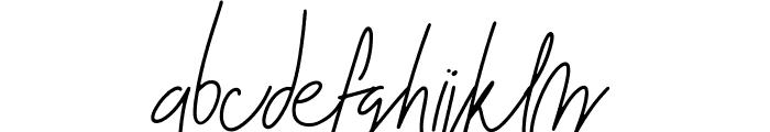 Blenheim Signature Font LOWERCASE