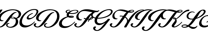 Blessed Personal Use Font UPPERCASE