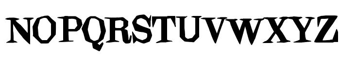 Blindfold Font UPPERCASE