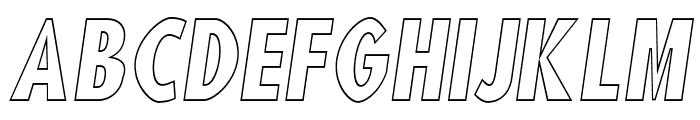 Blink 'Liner Oblique Font UPPERCASE